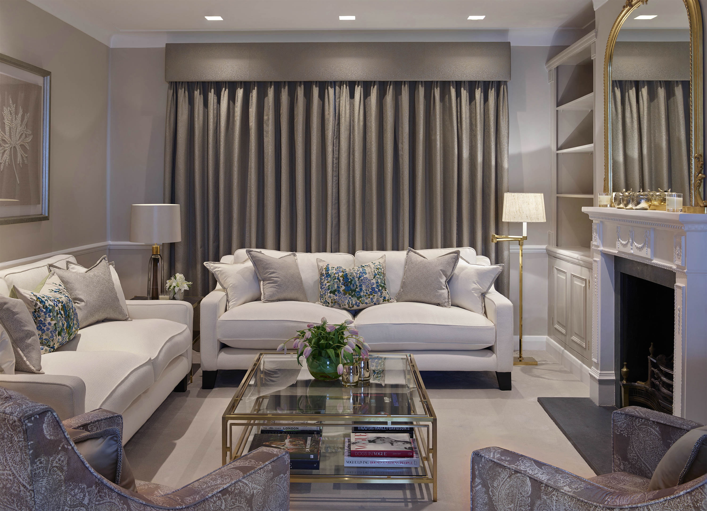 Chelsea Townhouse Living Room Curtains